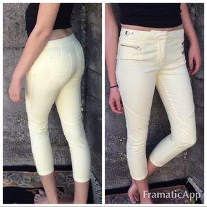 .NWT Monika Chiang butter yellow jeans bxmc